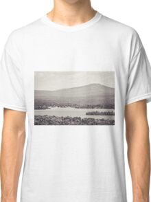 Black and White Mountain Waterscape Classic T-Shirt