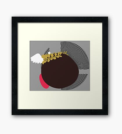 Pit (Kirby Hat) - Sunset Shores Framed Print