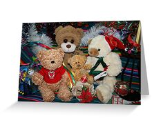 Holiday Cheer from the Ted E. Bear Family Greeting Card