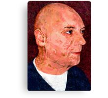 Portrait of a Bald Man Canvas Print