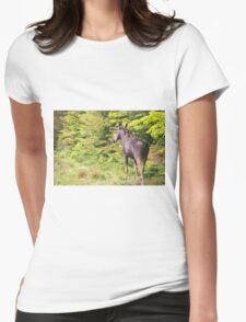 Bull Moose in Maine Womens Fitted T-Shirt
