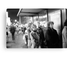 1985 - waiting for the night bus Canvas Print