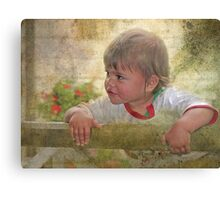 """""""Just Being a Boy ..."""" Canvas Print"""