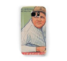 Benjamin K Edwards Collection George Herman Babe Ruth Big League Chewing Gum Baseball Card Samsung Galaxy Case/Skin