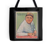 Benjamin K Edwards Collection George Herman Babe Ruth Big League Chewing Gum Baseball Card Tote Bag