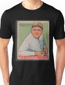 Benjamin K Edwards Collection George Herman Babe Ruth Big League Chewing Gum Baseball Card Unisex T-Shirt