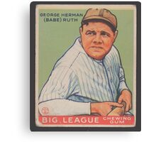 Benjamin K Edwards Collection George Herman Babe Ruth Big League Chewing Gum Baseball Card Canvas Print
