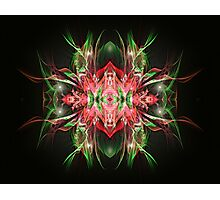 Green and Red Abstract Photographic Print