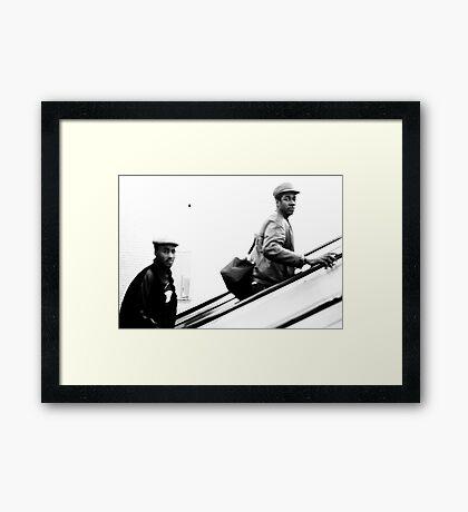 1985 - watching back  Framed Print