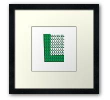 L is for Luigi Framed Print