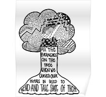 Cough it out - Tree Zentangle Poster