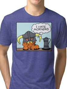 The Lasagnaborn (Cyan Version) Tri-blend T-Shirt