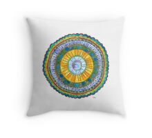 Mandala - Wave Throw Pillow