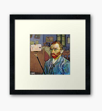 vincent van selfie Framed Print