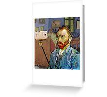 vincent van selfie Greeting Card