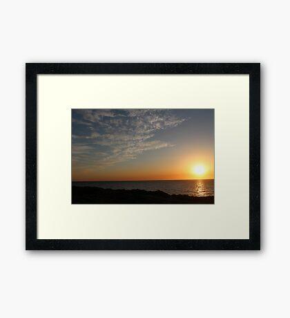Sunset Highlighting the Sky Landscape - BB0296 Framed Print