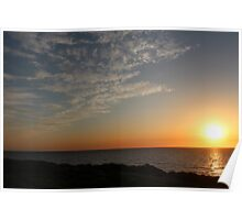 Sunset Highlighting the Sky Landscape - BB0296 Poster