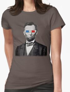 Abe in 3D Womens Fitted T-Shirt