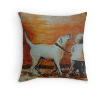 Copain Copine (friends), featured in Deez 5Cs, Cats and Dogs, Group-Gallery Art & Photography, Art Universe, Best of Redbubble Throw Pillow