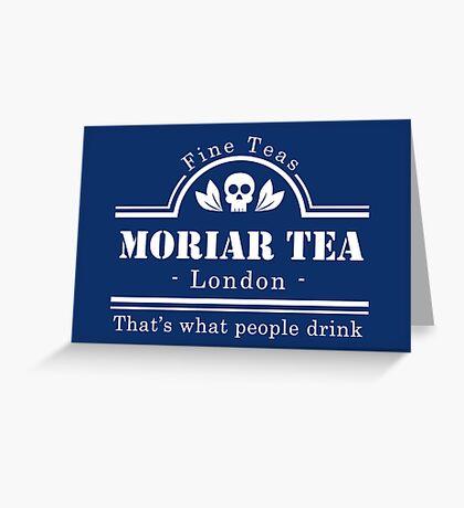 MoriarTea - White Greeting Card