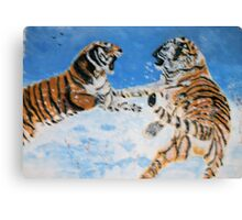 Cat Fight Canvas Print