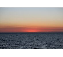 Ocean saying goodnight - BB0361 Photographic Print
