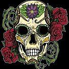Day Of The Dead Skull by LovelessDGrim