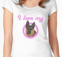 I love my German Shepard! Women's Fitted Scoop T-Shirt