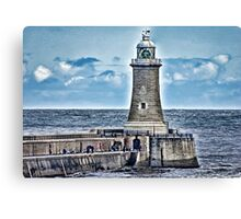 Harbour Light - Tynemouth. Canvas Print