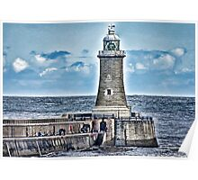 Harbour Light - Tynemouth. Poster