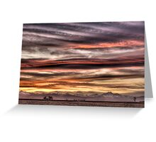 Colorado Sunset Paint Brush Greeting Card