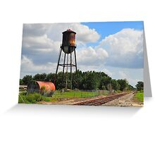 Water Tower at Industrial Site Greeting Card