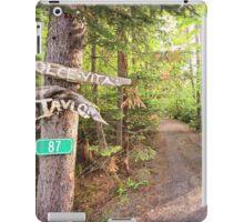 Rural Path through the woods iPad Case/Skin