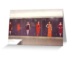 Women on toilet doors in Charles de Gaulle airport Greeting Card