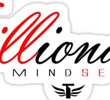 Trillionaire Mindset™ Red & Black #1 Sticker