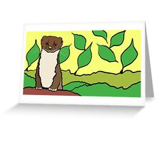 Stoat Greeting Card
