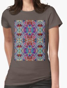 Fractal Floral Abstract Womens Fitted T-Shirt