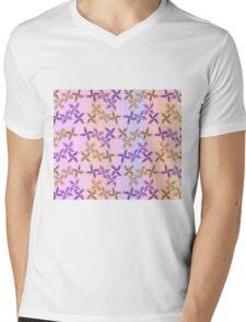 Prickly Pastel Flower Duvet Mens V-Neck T-Shirt
