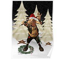 Christmas Pork ?? .. fun fantasy Poster