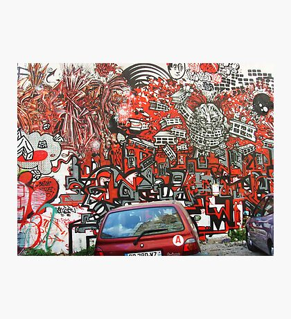 Unbelievable red graffiti Photographic Print