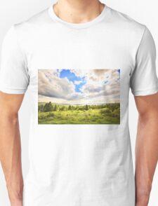 Sunny Lakeside Landscape Unisex T-Shirt