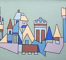 Aberdeen Skyline by Gio Alzapiedi