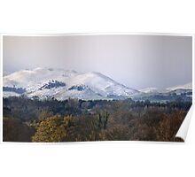 Snow on the Pentland Hills Poster