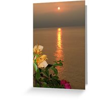 Sun of the late afternoon Greeting Card