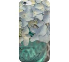 Still Life Pale Blue Hydrangea Flowers iPhone Case/Skin