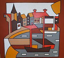 Stonehaven Harbour by Gio Alzapiedi