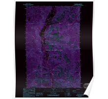 USGS Topo Map Washington State WA Louie Creek 242076 1989 24000 Inverted Poster