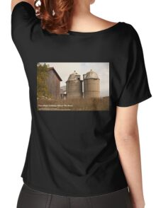 Two Silo's Talking About The Barn Women's Relaxed Fit T-Shirt