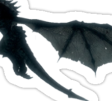 Skyrim - Dragon flying. Sticker
