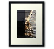 Gothenburg quayside reflections Framed Print
